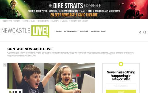 Screenshot of Contact Page newcastlelive.com.au - Contact Newcastle Live | Newcastle Live - captured Sept. 20, 2018