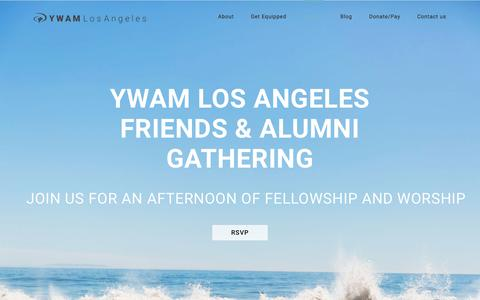 Screenshot of ywamla.org - Alumni – YWAM Los Angeles - captured Aug. 5, 2017