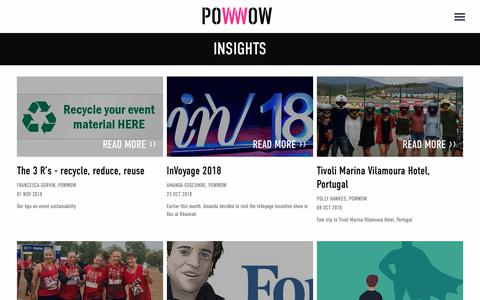 Screenshot of Press Page powwowevents.co.uk - News & Insights - Powwow Events - captured Nov. 5, 2018