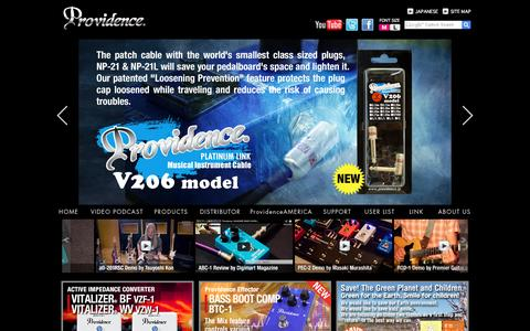 Screenshot of Home Page providence-ltd.com - Providence-Ltd.com - captured June 20, 2016