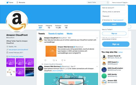 Amazon CloudFront (@cloudfront) | Twitter