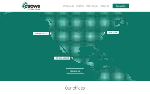 Screenshot of Contact Page crowdint.com - Crowd Interactive | Leading eCommerce consultancy firm - captured Sept. 23, 2014