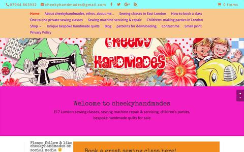 Screenshot of Home Page cheekyhandmades.co.uk - Cheekyhandmades - captured July 24, 2018