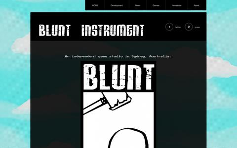 Screenshot of Home Page About Page blunt-instrument.com - | Blunt Instrument Studios - captured Oct. 5, 2014