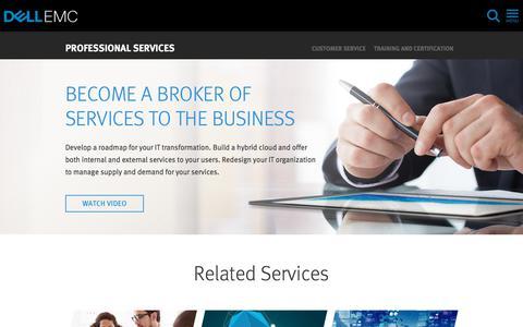 Screenshot of Services Page dellemc.com - Cloud Services Transformation | Dell EMC US - captured Feb. 5, 2018