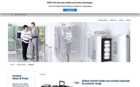Screenshot of Products Page era-contact.com - Current news | era-contact - captured Sept. 17, 2017