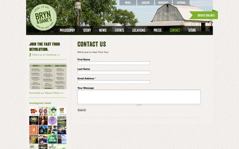 Screenshot of Contact Page brynanddanes.com - Contact Us | BRYN and DANE'S - captured Sept. 30, 2014