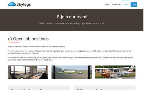 Screenshot of Team Page skylegs.com - Skylegs website - Skylegs - captured Dec. 20, 2016