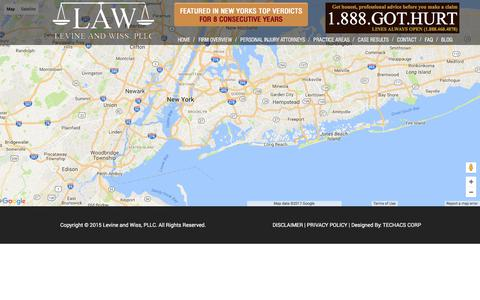 Screenshot of Maps & Directions Page lawpllc.com - Map - LAW - Levine and Wiss, PLLC - captured Aug. 4, 2017