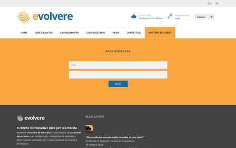 Screenshot of Login Page evolvere.it - Area riservata - Evolvere - captured Nov. 13, 2016