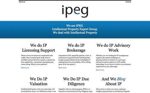 Screenshot of Home Page ipegconsultancy.com - IPEG Consultancy - captured Oct. 4, 2014