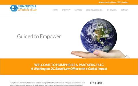 Screenshot of Home Page hplawyers.com - Humphries and Partners - captured Oct. 6, 2014