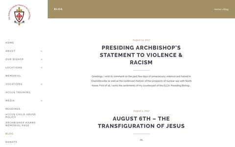 Screenshot of Blog accus.us - The American Catholic Church in the United States |   Blog - captured July 28, 2018