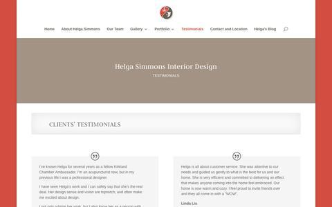 Screenshot of Testimonials Page helgadesign.com - Testimonials - Helga Simmons Interior Design - captured July 8, 2017