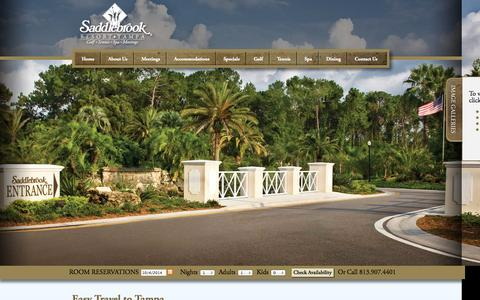 Screenshot of Maps & Directions Page saddlebrook.com - Travel to Tampa | Map of Tampa | Saddlebrook Resort - captured Oct. 4, 2014