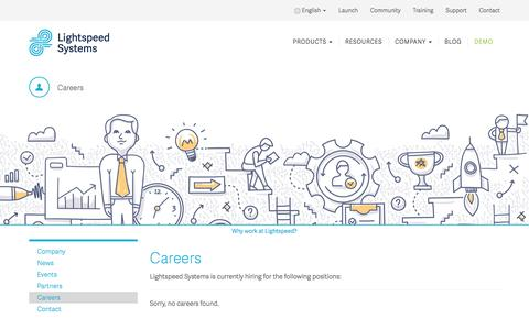 Screenshot of Jobs Page lightspeedsystems.com - Careers | Lightspeed Systems, Inc. - captured May 4, 2016