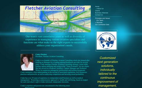 Screenshot of Team Page fletcher-aviation-consulting.com - Fletcher Aviation Consulting - Our Team - captured June 6, 2017