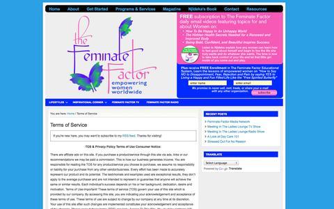 Screenshot of Terms Page selfesteemprograms.com - Terms of Service | Self Esteem Programs - captured Nov. 3, 2014