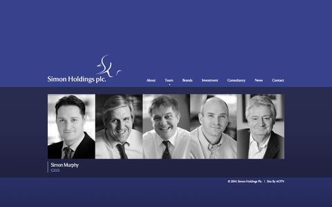 Screenshot of Team Page simonholdings.com - Team «  Simon Holdings plc - captured Oct. 26, 2014