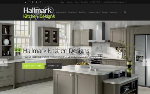 Screenshot of Home Page hallmarkkitchendesigns.com - Kitchen companies in Poole committed to great customer service. - captured Sept. 26, 2014