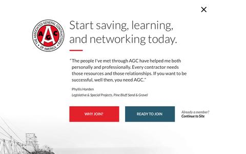 Screenshot of Signup Page agc.org - Join | Associated General Contractors - captured Sept. 2, 2016