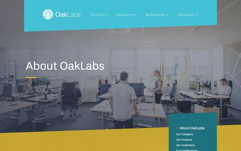 Screenshot of About Page oak-labs.com - Your biomarker signatures and lab service provider | OakLabs - captured Sept. 20, 2018