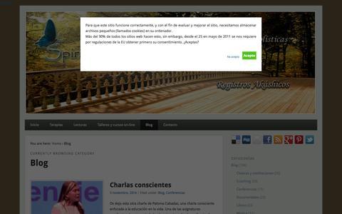 Screenshot of Blog spiritualchakra.com - Blog de Spiritual Chakra - captured Nov. 3, 2014