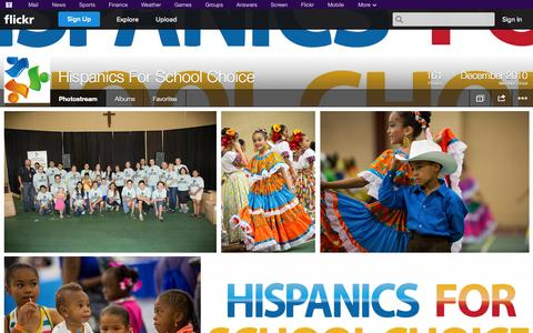 Screenshot of Flickr Page flickr.com - Flickr: Hispanics For School Choice's Photostream - captured Oct. 22, 2014