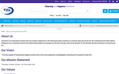 Screenshot of About Page vitadirectuk.com - About us | Cleaning Solutions | Vita Direct - captured Nov. 30, 2016