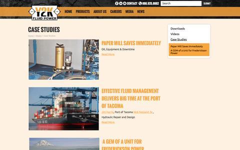 Screenshot of Case Studies Page y2kfluidpower.com - Case Studies - Y2K Fluid Power - captured Dec. 15, 2015