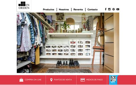 Screenshot of Home Page enorden.la - EnOrden.la » Home - captured July 19, 2018