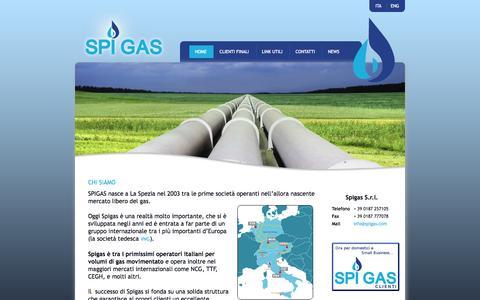 Screenshot of Home Page spigas.com - Spigas - Home - captured Oct. 6, 2014