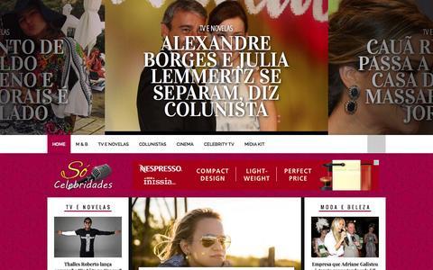 Screenshot of Home Page socelebridades.com.br - Só Celebridades - Notícias do Mundo das Celebridades - captured Sept. 19, 2014