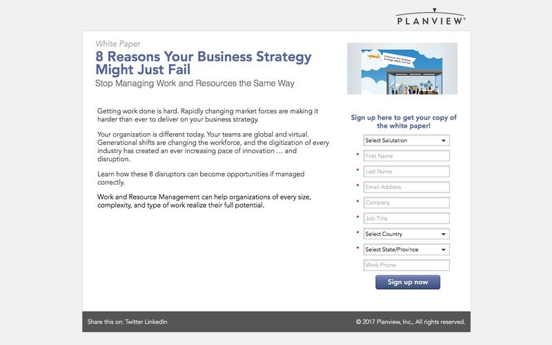 8 Reasons Your Business Strategy Might Just Fail | Planview White Paper