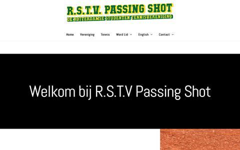 Screenshot of Home Page passingshot.nl - Passing Shot - captured Nov. 15, 2018