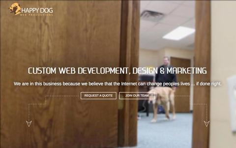 Screenshot of Home Page hdwebpros.com - Custom web development. SEO. Mobile | Happy Dog - captured Jan. 22, 2015