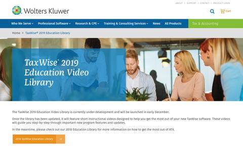 Screenshot of Case Studies Page wolterskluwer.com - TaxWise® 2019 Education Library | Wolters Kluwer - captured Nov. 29, 2019