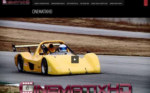 Screenshot of Home Page cinematixhd.com - CinematixHD | Adrenaline Captured in High Definition - captured Sept. 29, 2014