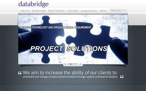 Screenshot of Home Page data-br.com - data-bridge | Solution to Complex Business Needs - captured Oct. 5, 2014