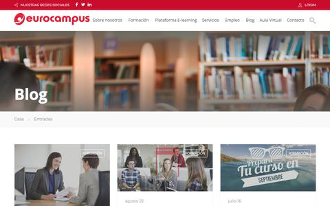 Screenshot of Blog eurocampus.es - Entradas – Eurocampus - captured July 22, 2018