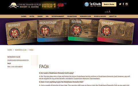 Screenshot of FAQ Page chukchansigold.com - FAQs - Chukchansi Gold Resort & Casino - captured Sept. 28, 2018