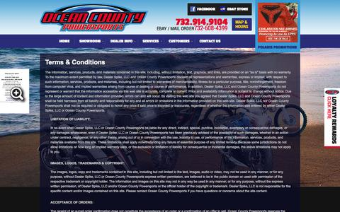 Screenshot of Terms Page oceancountypowersports.com - Terms | Ocean County Powersports | Toms River New Jersey - captured Oct. 6, 2014