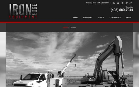 Screenshot of Jobs Page ironedgeltd.ca - Careers - Iron Edge Equipment Ltd. - captured Oct. 6, 2014