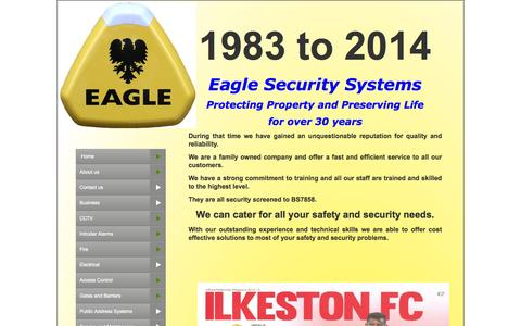 Screenshot of Press Page eaglesecurity.org.uk - news - captured Oct. 2, 2014