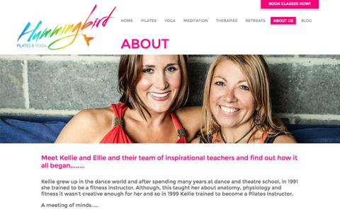 Screenshot of About Page hummingbirdpilates.co.uk - About Yoga and Pilates Studio in Chelmsford, Essex | Hummingbird Pilates and Yoga - captured Oct. 3, 2014