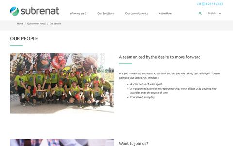 Screenshot of Team Page subrenat.com - Our people - subrenat - captured Oct. 1, 2018