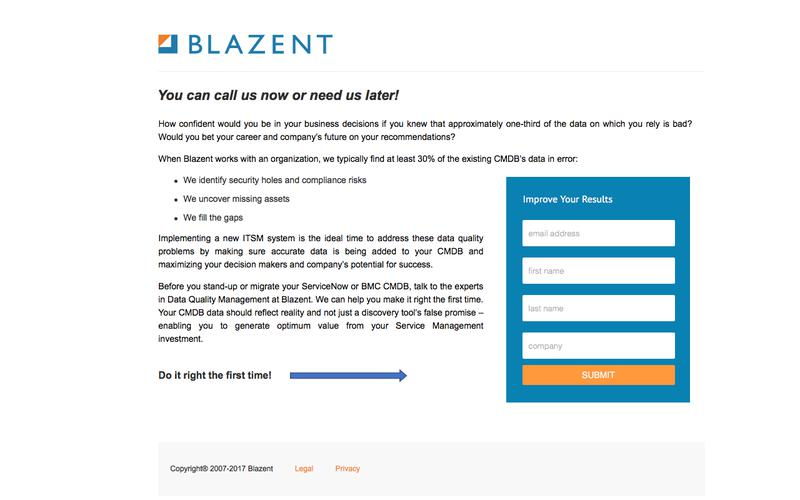 Blazent - You can call us now or need us later!