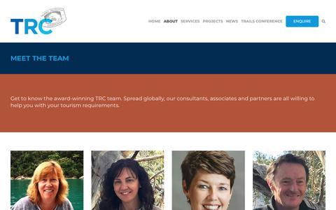Screenshot of Team Page trctourism.com - Tourism Conservation Consultants Team | TRC Tourism - captured Oct. 20, 2018