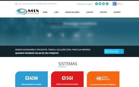 Screenshot of Home Page mixtecnologia.com.br - Mix Tecnologia - Sites, Softwares e Sistemas Imobiliários - captured May 10, 2017