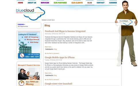 Screenshot of Blog bluecloudict.com - Blog - captured Sept. 30, 2014